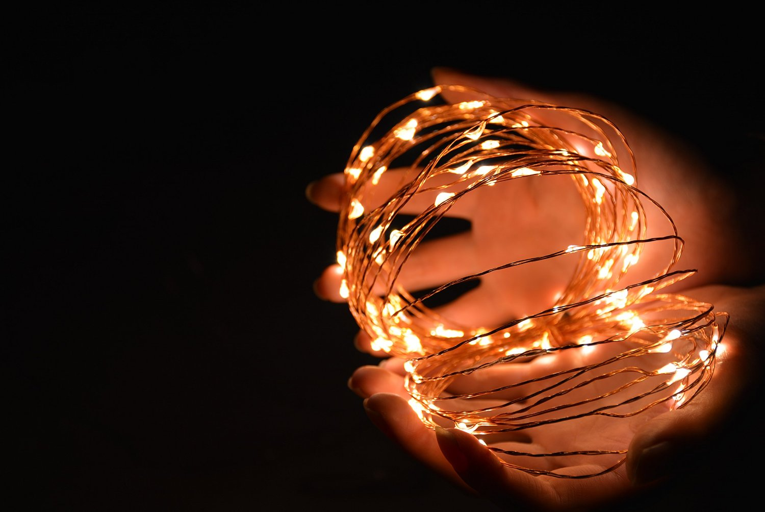 Copper String Lights Down To The Woods : Products-33ft led copper wire string lights-HAHOME